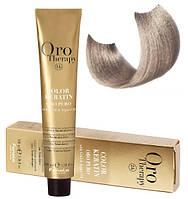 Безаммиачная крем-краска для волос Fanola Oro Therapy  №10/1 Blonde platinum ash 100 мл