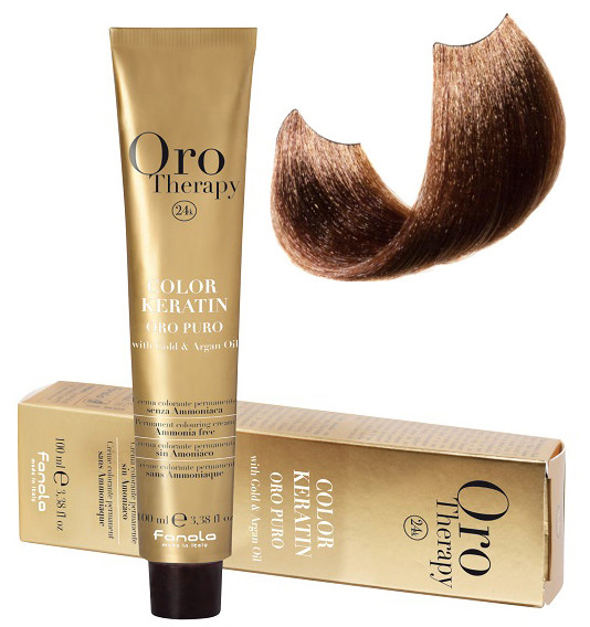 Безаммиачная крем-краска для волос Fanola Oro Therapy №6/3 Dark blonde golden 100 мл
