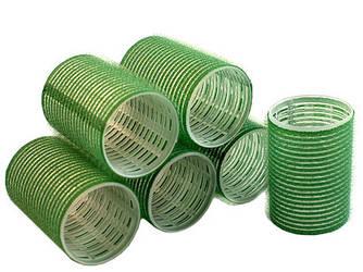 Бигуди на липучке Sibel зеленые 48 мм*6 шт
