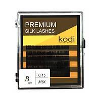 Ресницы для наращивания, темно-коричневые Kodi Professional № В.0.15 6 рядов: 8-3; 14-3