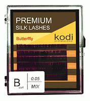 Ресницы для наращивания, черные Kodi Professional Butterfly №В.0.05 6 рядов: 8-2; 9-2; 10-2