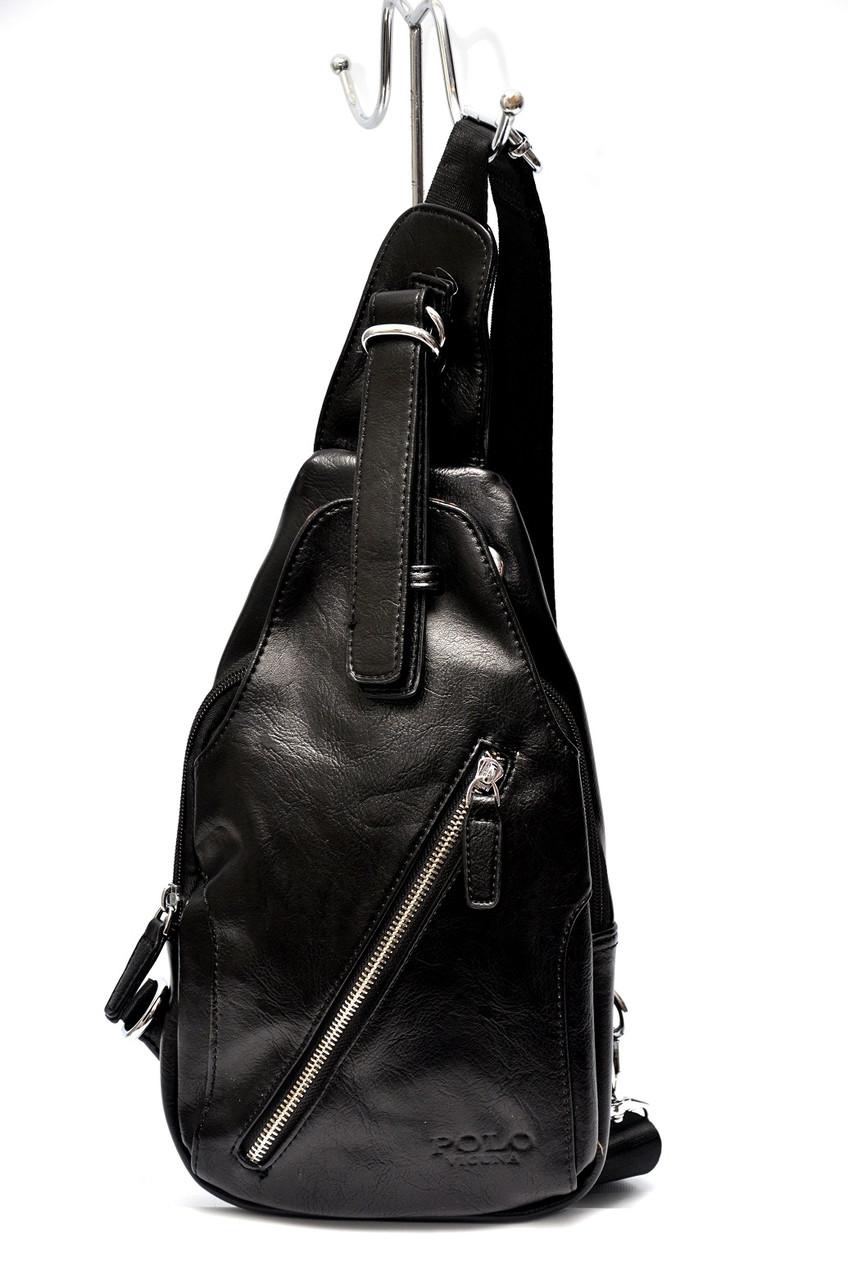 Мужская сумка Polo Vicuna через плечо Черный (99471)