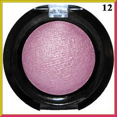 Тени для Век LDM Амарантово- Розовые Запеченные Одинарные с Микроблеском Компактные Сет D тон 12