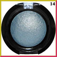 Тени для Век LDM Голубые Запеченные Одинарные с Микроблеском Компактные Сет D тон 14 Косметика