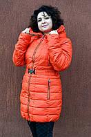 Куртка женская зимняя оранжевая L Оранжевый - 157631