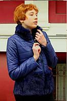 Куртка с кроликом вверху и внизу 8605 2XL Синий - 157683