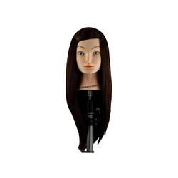 Учебная голова Sibel, темные волосы 50-55 см, без штатива