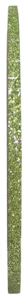 Голографическая полоска для ногтей 2мм (зеленая с блестками)