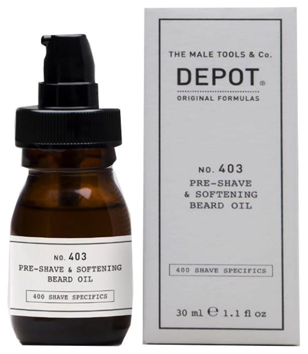 Масло для смягчения бороды перед бритьем Depot 30 мл
