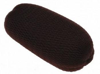 Эластичная подкладка для волос Sibel коричневая 13 см