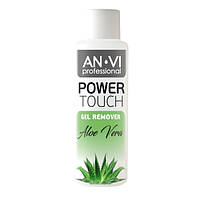 Средство для снятия гель-лака ANVI Professional Power Touch Aloe Vera 100 мл