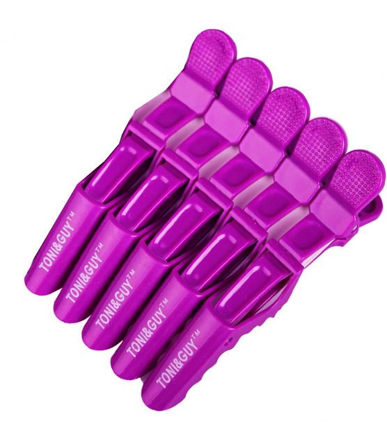 Пластиковый зажим для волос Crocodile розовый 5 шт