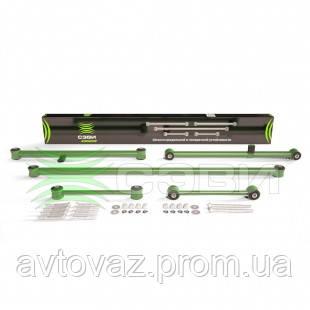 Реактивные тяги СЭВИ ЭКСТРИМ ВАЗ 2101, 2102, 2103, 2104, 2105, 2106, 2107 (к-т 5 шт.) с крепежом