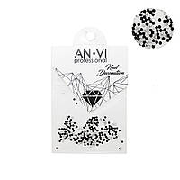 Камни Сваровски ANVI PIXI №4 черные 200 шт