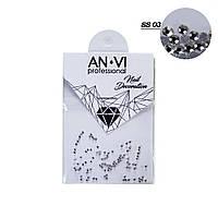 """Стразы для дизайна ногтей Swarovski ANVI Professional """"Crystal Pixie"""" №SS03, 100 шт"""