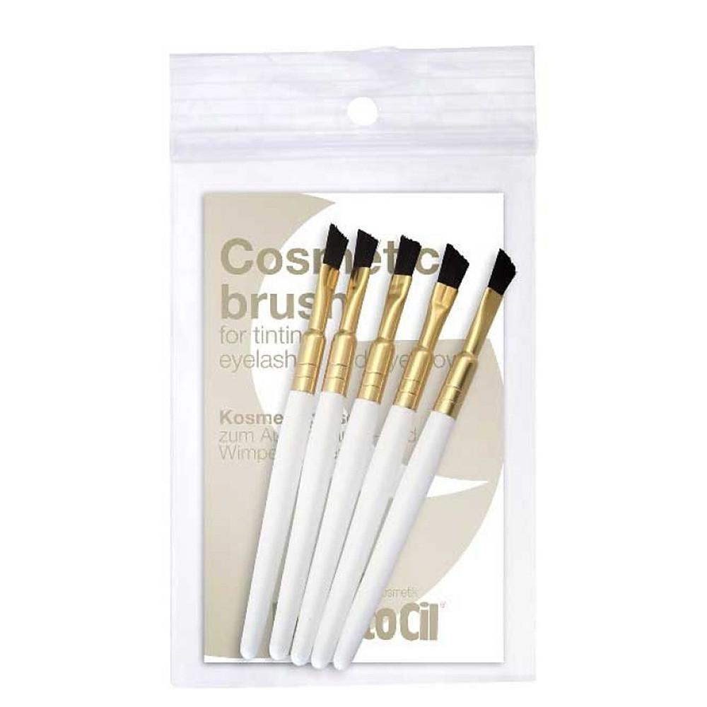 Набор кистей для окрашивания бровей и ресниц RefectoCil Gold жесткие