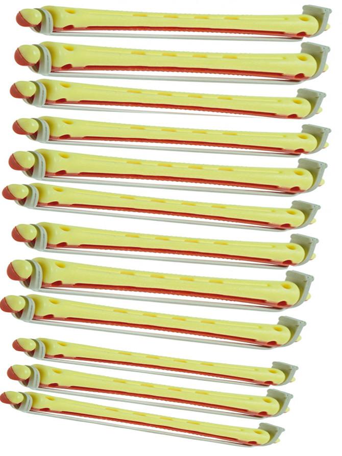 Бигуди-коклюшки Sibel желто-красные 12 шт