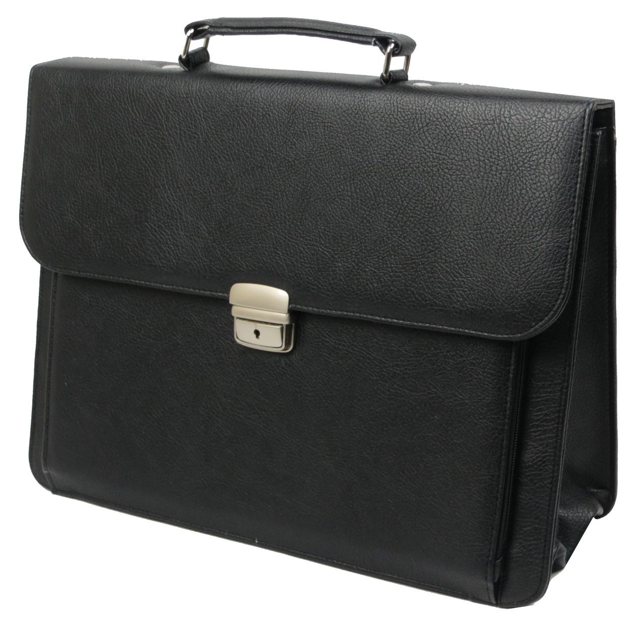 Портфель деловой из кожзаменителя Exclusive Черный (720100)