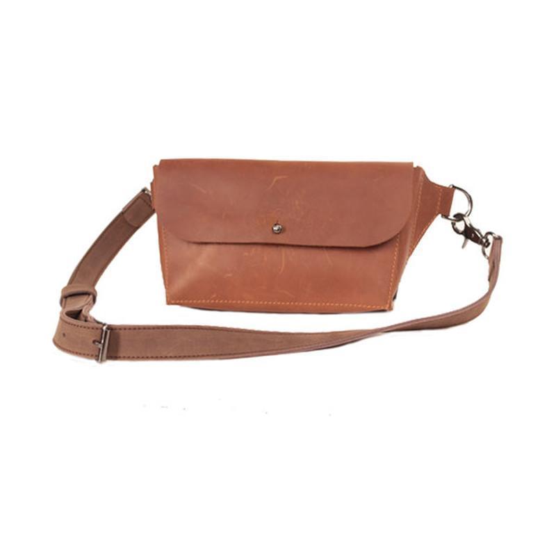 Сумка поясная из натуральной кожи Fil Filli Belt bag (Them3572)