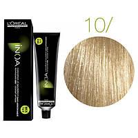 Крем-краска для волос L'Oreal Professionnel INOA Mix 1+1 №10 Platinblond 60 мл