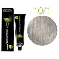 Крем-краска для волос L'Oreal Professionnel INOA Mix 1+1 №10/1 Платиновый пепельный блонд 60 мл