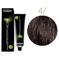 Крем-краска для волос L'Oreal Professionnel INOA Mix 1+1 №4 Каштан 60 мл