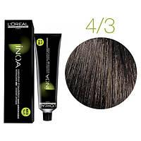 Крем-краска для волос L'Oreal Professionnel INOA Mix 1+1 №4/3 золотистый шатен 60 мл
