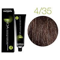 Крем-краска для волос L'Oreal Professionnel INOA Mix 1+1 №4/35 темный шатен золотисто-красный 60 мл