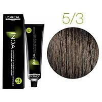 Крем-краска для волос L'Oreal Professionnel INOA Mix 1+1 №5/3 Светло-золотистый шатен 60 мл