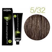 Крем-краска для волос L'Oreal Professionnel INOA Mix 1+1 №5/32 Светлый шатен золотистый ирисовый 60 мл
