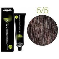 Крем-краска для волос L'Oreal Professionnel INOA Mix 1+1 №5/5 Медный темный шатен 60 мл