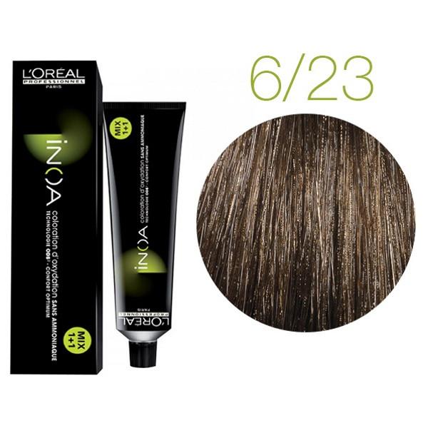 Крем-краска для волос L'Oreal Professionnel INOA Mix 1+1 №6/23 Шоколадный трюфель 60 мл