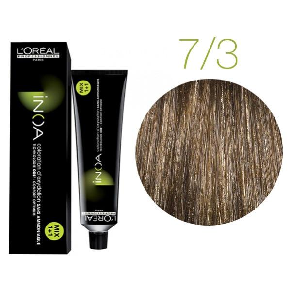 Крем-краска для волос L'Oreal Professionnel INOA Mix 1+1 №7/ 3олотистый блонд  60 мл