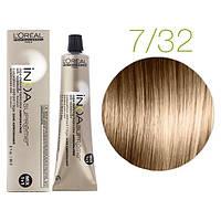 Крем-краска для волос L'Oreal Professionnel INOA Mix 1+1 №7/32 Блондин золотисто-медный 60 мл