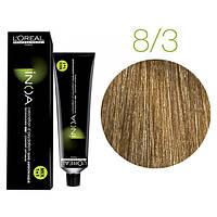 Крем-краска для волос L'Oreal Professionnel INOA Mix 1+1 №8/3 Светлый блонд золотистый 60 мл