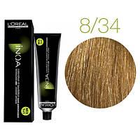 Крем-краска для волос L'Oreal Professionnel INOA Mix 1+1 №8/34 Светлый блонд золотисто-медный 60 мл