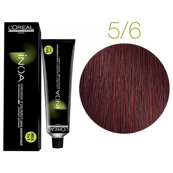 Крем-краска для волос L'Oreal Professionnel INOA Mix 1+1 №C5/6 Светло-коричневый красный 60 мл