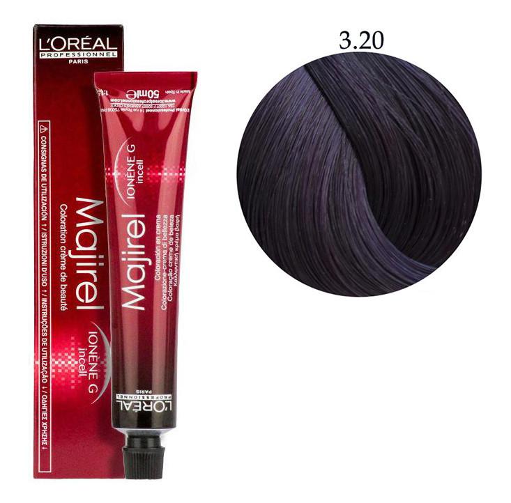 Крем-краска для волос L'Oreal Professionnel Majirel №3/20 Очень темный шатен с фиолетовым оттенком 50 мл