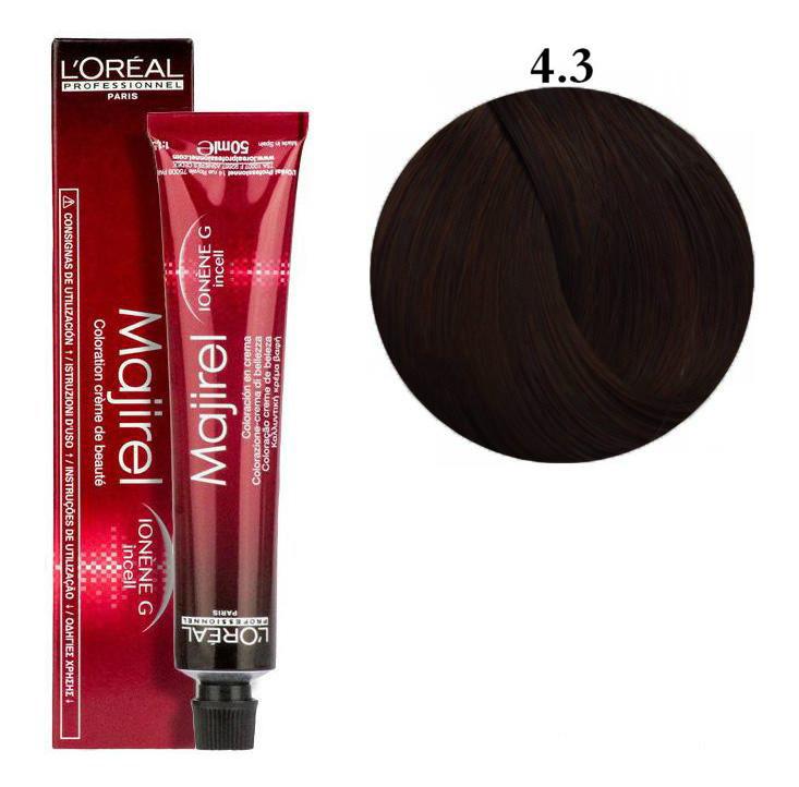 Крем-краска для волос L'Oreal Professionnel Majirel №4/3 Золотистый шатен 50 мл