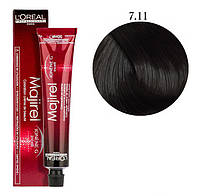 Крем-краска для волос L'Oreal Professionnel Majirel №7/11 Блондин интенсивно пепельный 50 мл