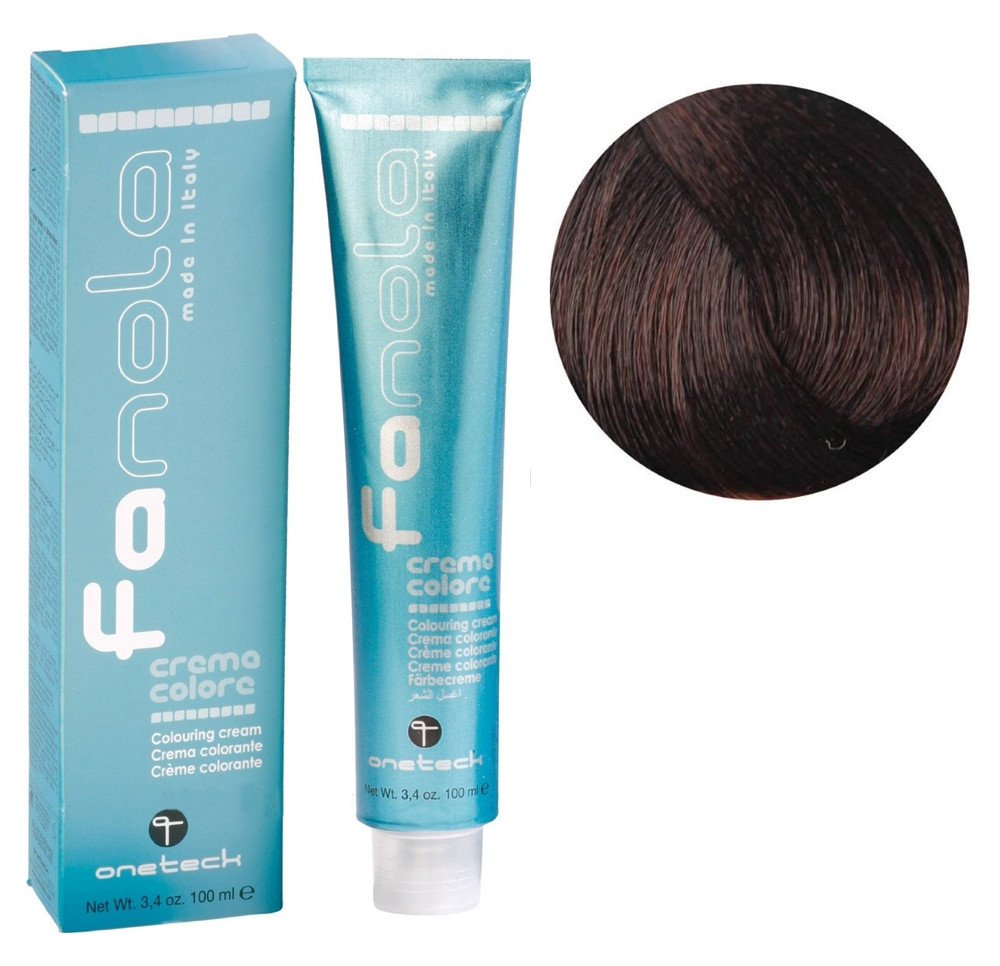 Крем-краска для волос Fanola №5/4 Light chestnut copper 100 мл