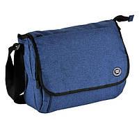 Городская сумка-почтальон Paso Синий (16-582AA)