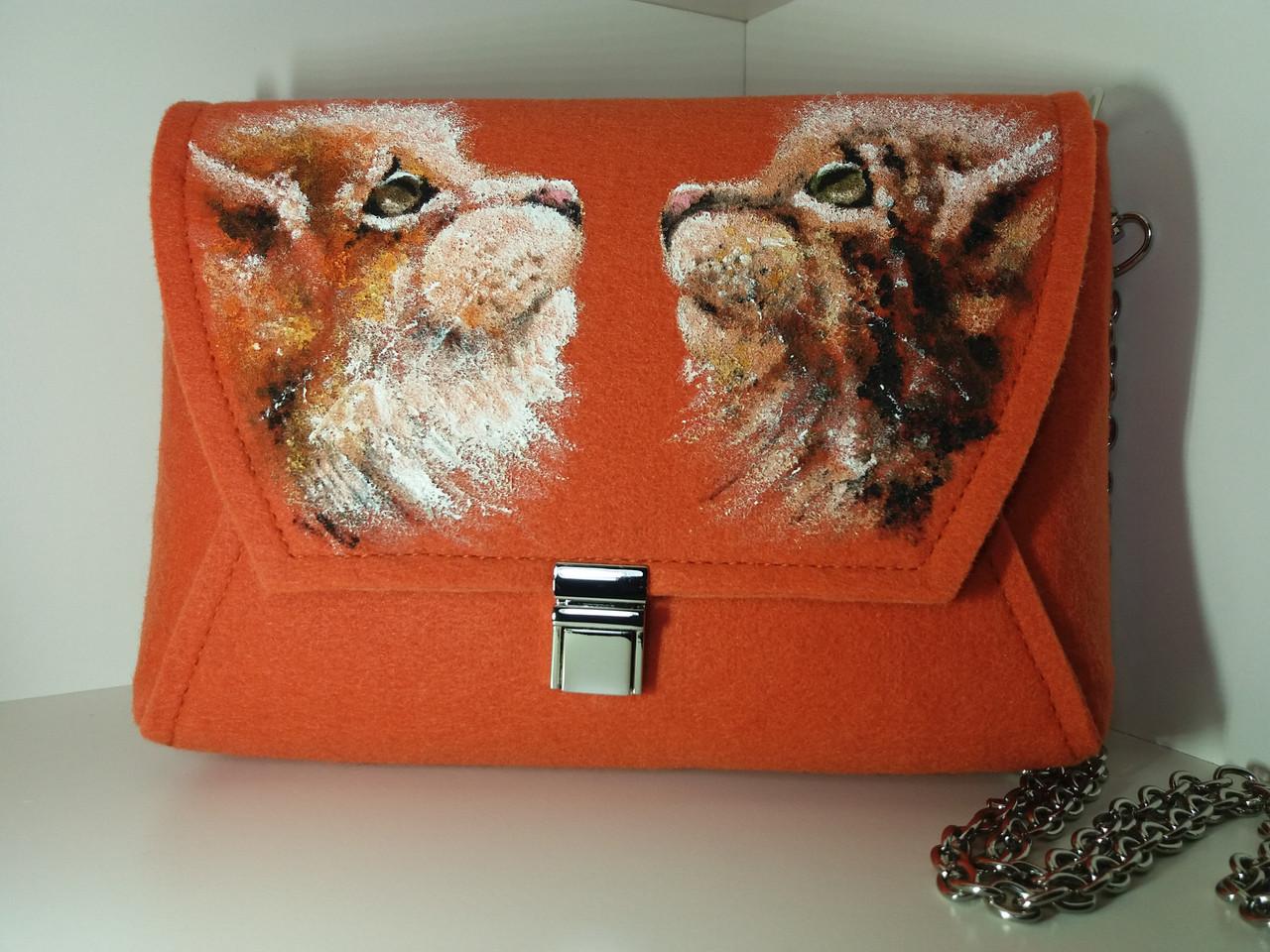 Женская сумка кросс-боди Alpaca Сat+Сat Оранжевый (ALP004)