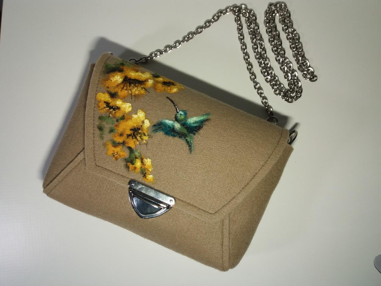 Женская сумка Alpaca Hummingbird Бежевый (ALP007)