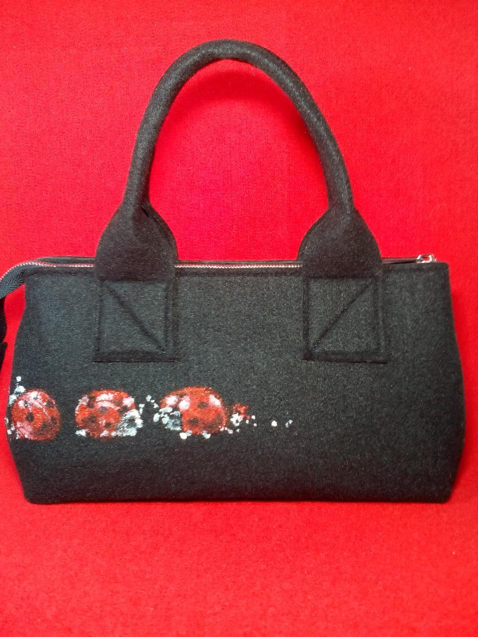 Женская сумка Alpaca Ladybug Черный (ALP027)