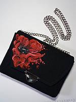 Женская сумка Alpaca Poppy flower Темно-серый (ALP013), фото 1