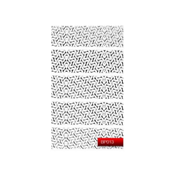 "Наклейка для дизайна ногтей Kodi Professional""Silver"" Nail Art Stickers BP013"