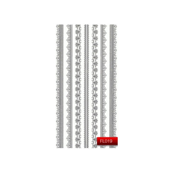 "Наклейка для дизайна ногтей Kodi Professional""Silver"" Nail Art Stickers FL019"