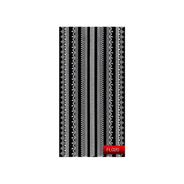 "Наклейка для дизайна ногтей Kodi Professional""White"" Nail Art Stickers FL020"
