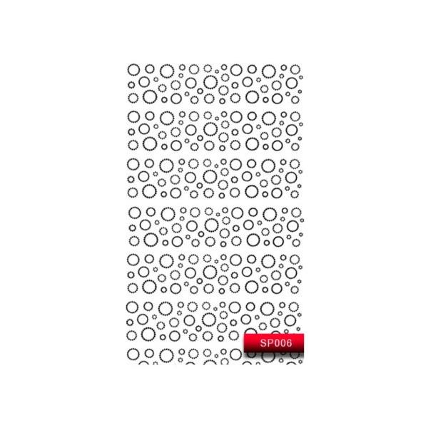 "Наклейка для дизайна ногтей Kodi Professional""Black"" Nail Art Stickers SP006"